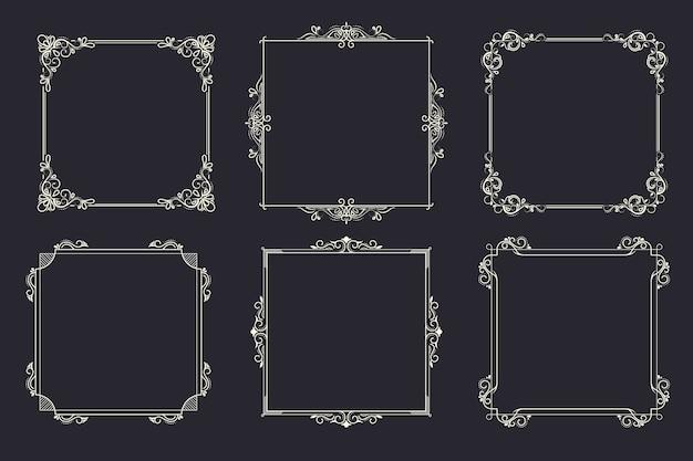 ビンテージ装飾用フレームコレクション
