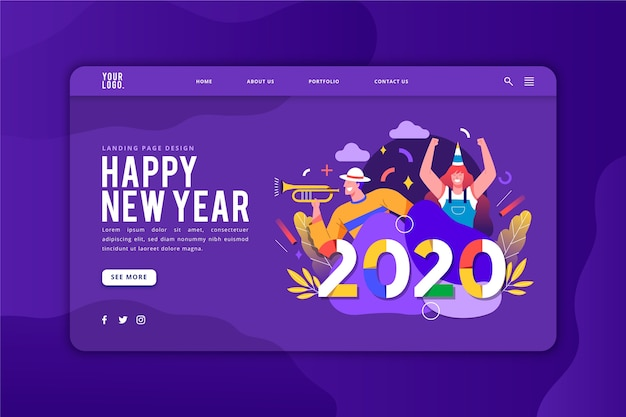 Шаблон целевой страницы с новым годом