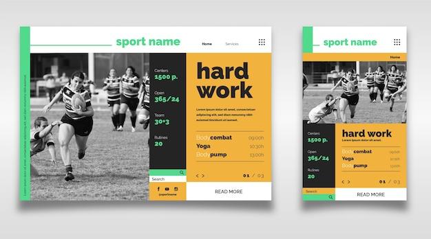 Спортивная посадочная страница с картинкой