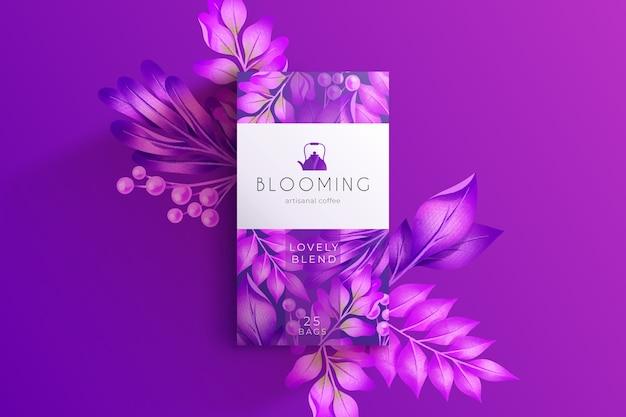 紫の水彩花の壁紙