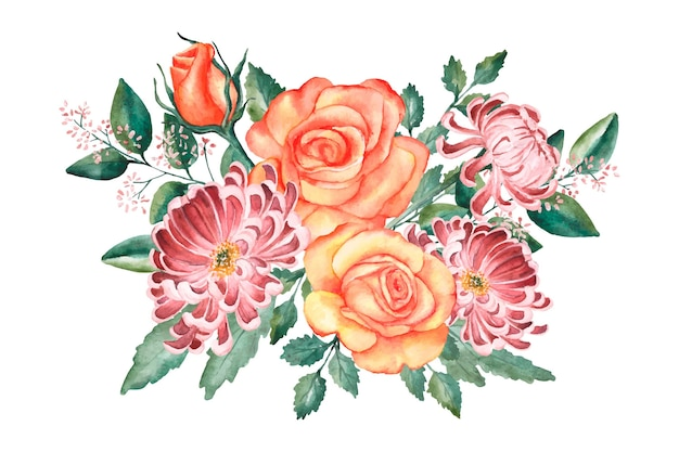 Красивый винтажный цветочный букет