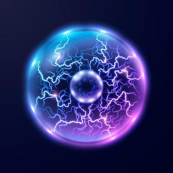 Неоновый электрический шар