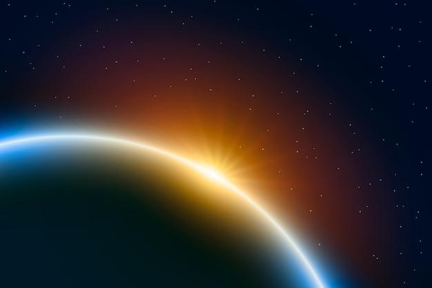抽象的な日の出の光の効果