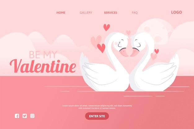 バレンタインデーのソーシャルメディアテーマのコンセプト