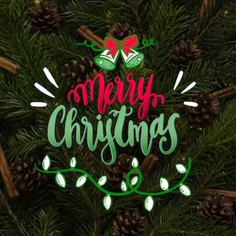 Счастливого рождества надписи стиль