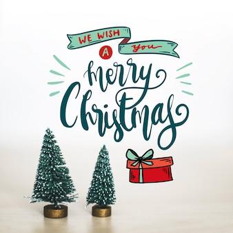 Дизайн для счастливого рождества надписи