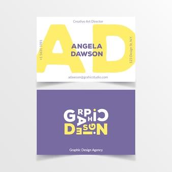 Современный графический дизайнер шаблон визитной карточки