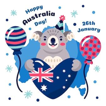 オーストラリアの手描きのデザイン