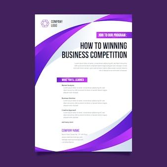シンプルな企業プログラムのプレゼンテーションテンプレート