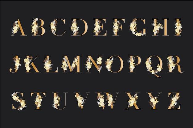 Элегантный алфавит с разными цветами