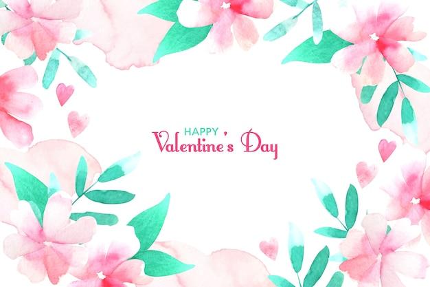 Акварель день святого валентина фон