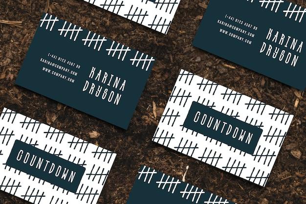 Креативный дизайнер шаблон визитной карточки