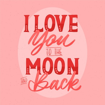美しいレタリングでロマンチックなメッセージ