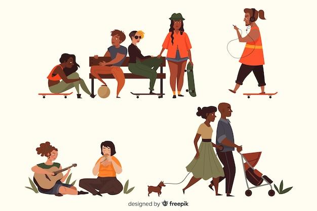 Люди в коллекции парка