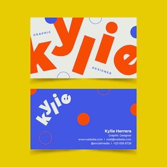 Набор шаблонов визитных карточек забавный графический дизайнер