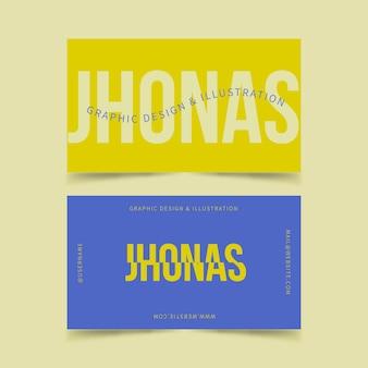 Коллекция шаблонов визитных карточек забавный графический дизайнер
