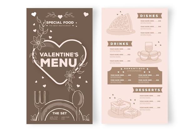 Плоский дизайн шаблона дня святого валентина