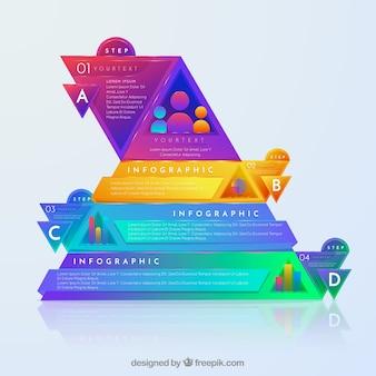 Инфографика с яркими кругами