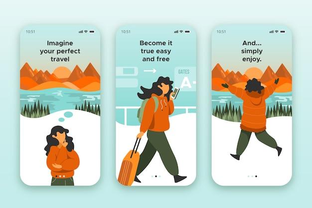 Экраны приложения для путешествий