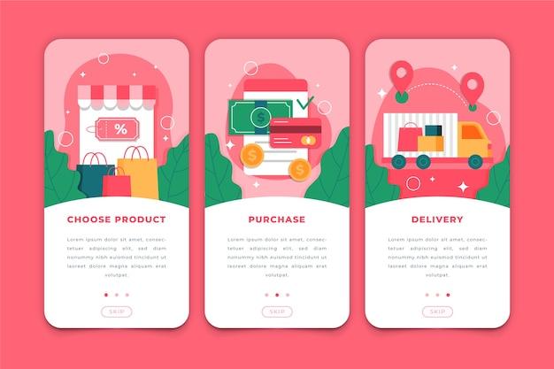 オンライン購入のオンボーディングアプリ