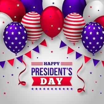 現実的な風船での大統領の日のイベント
