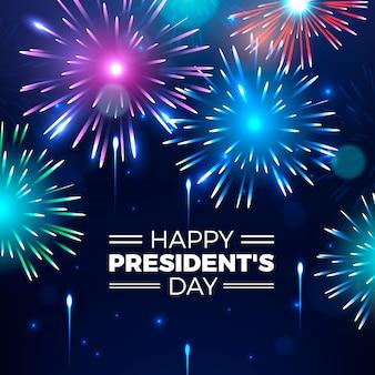 Празднование дня президента с фейерверком
