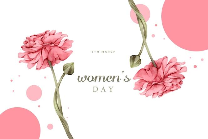 水彩の女性の日デザイン