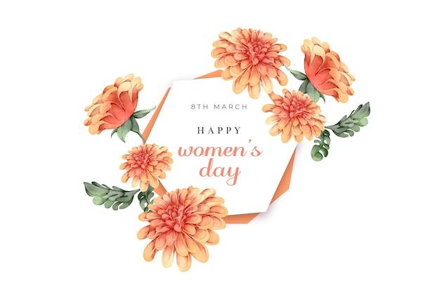 Акварель международный женский день концепция
