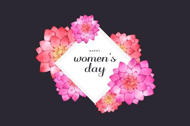 水彩の女性の日の概念