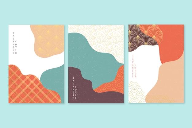 Минималистская концепция коллекции японских обложек