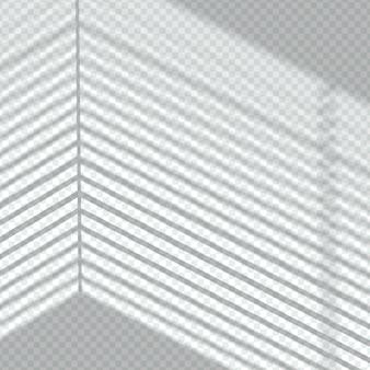 透明な影線オーバーレイ効果