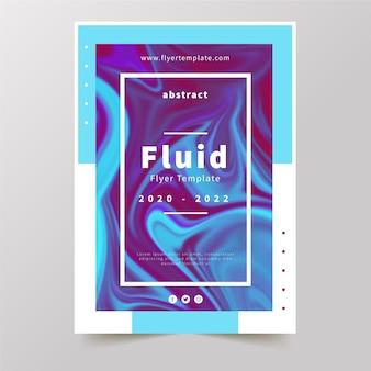Красочный плакат с эффектом жидкости бархатно-голубых тонов