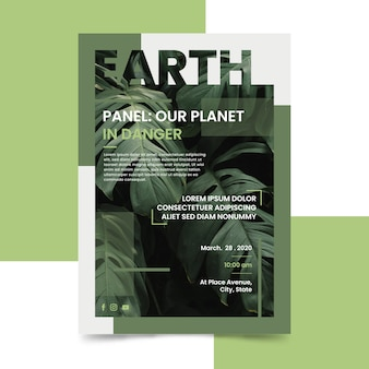 Наша планета в опасности плакат
