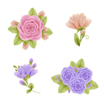 リアルな春の花のコレクション