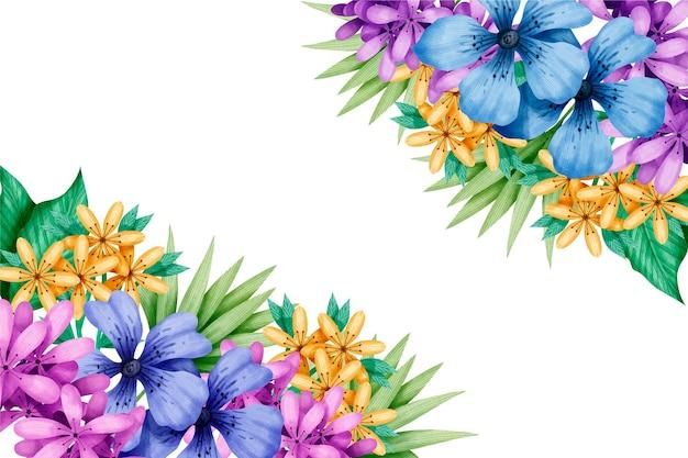 カラフルな水彩春の壁紙