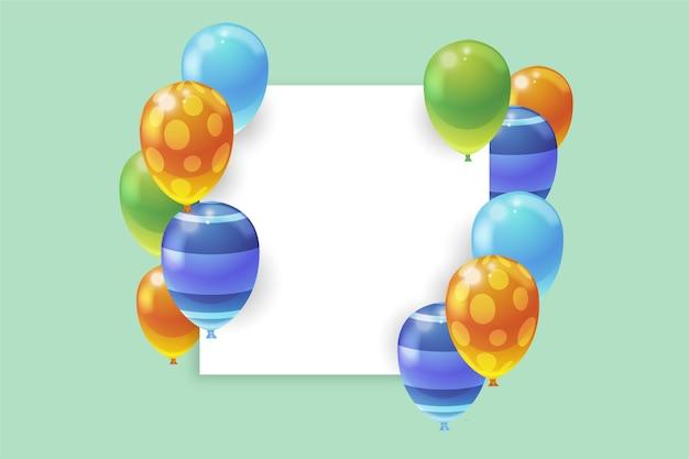Реалистичные воздушные шары с пустым баннером