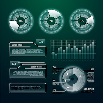 Футуристические технологии инфографики шаблон