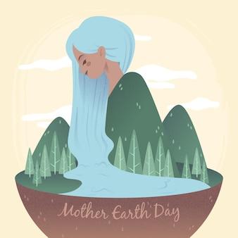 День матери-земли плоские обои дизайна