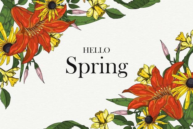 こんにちは春背景コンセプト