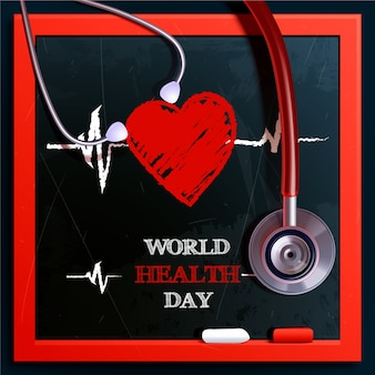 世界保健デーの現実的なデザイン