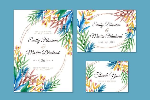 Креативные свадебные канцтовары с растениями