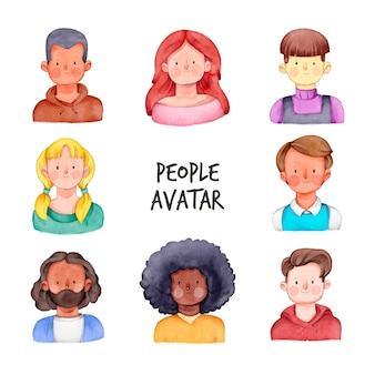Люди аватары с молодыми лицами