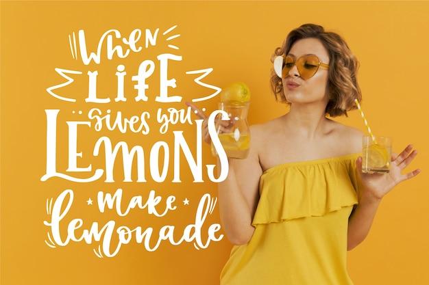 Лимон и лимонад позитивные надписи