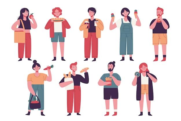 Люди с концепцией еды