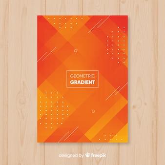 幾何学的グラデーションポスター