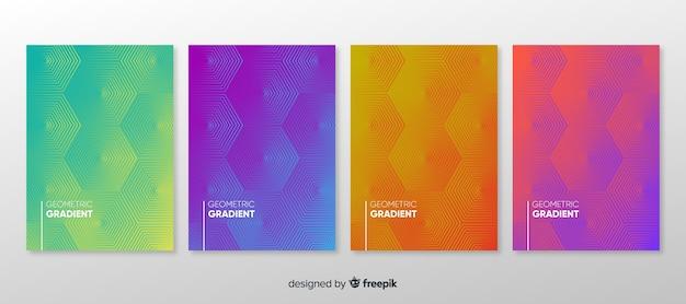 幾何学的グラデーションポスターコレクション