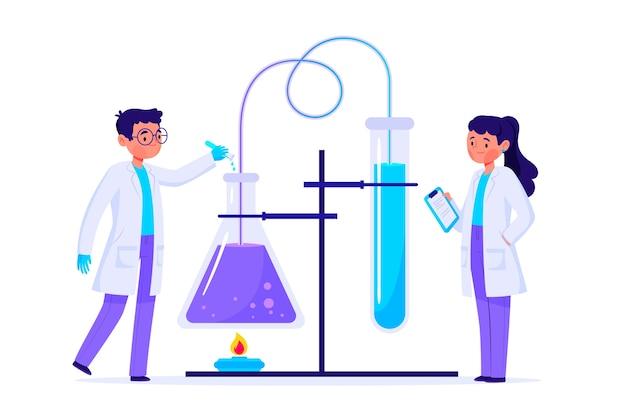 科学者の作業コンセプト