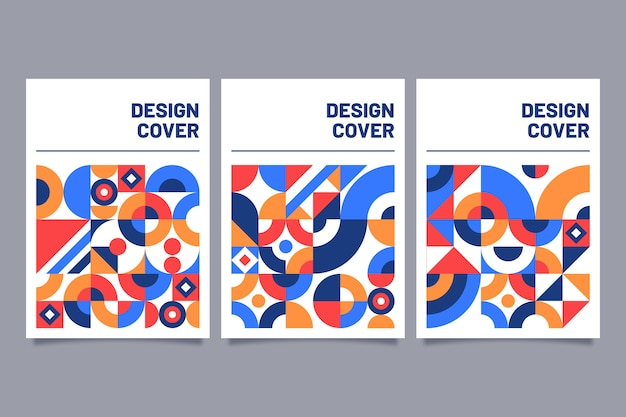Концепция абстрактных красочные обложки