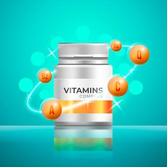 現実的なビタミン複合パッケージ