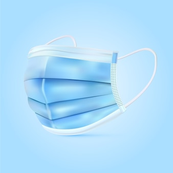 現実的な青い医療マスク